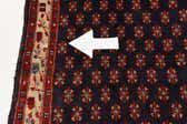 4' 3 x 11' 1 Hamedan Persian Runner Rug thumbnail