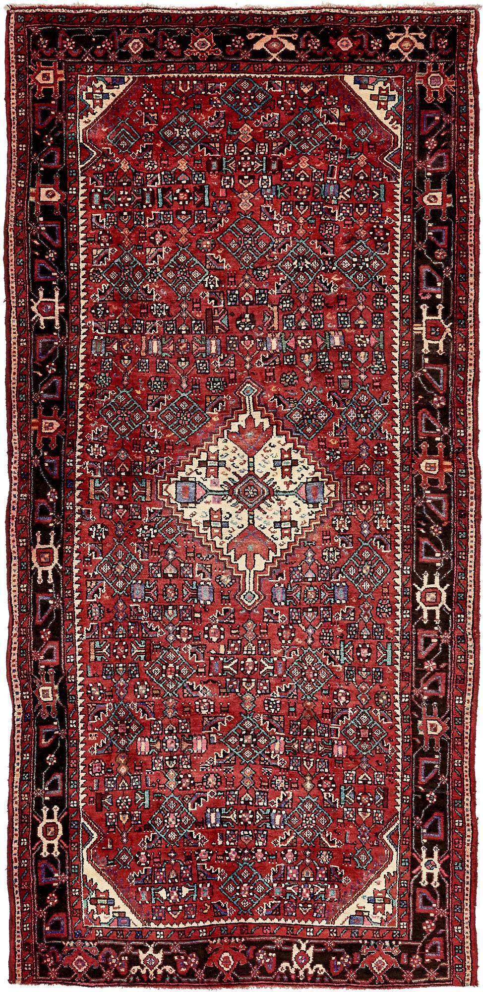 5' 6 x 10' 11 Hossainabad Persian Runner Rug main image