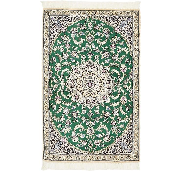 90cm x 142cm Nain Persian Rug