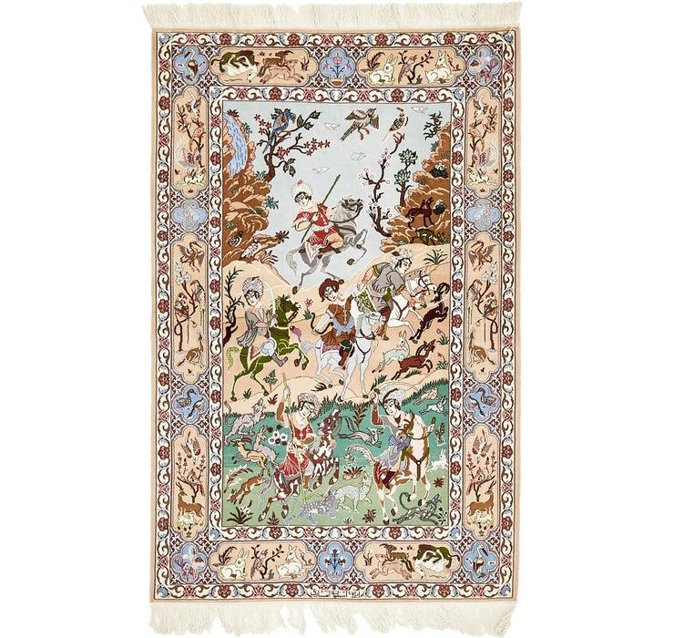 3' 8 x 5' 8 Isfahan Persian Rug