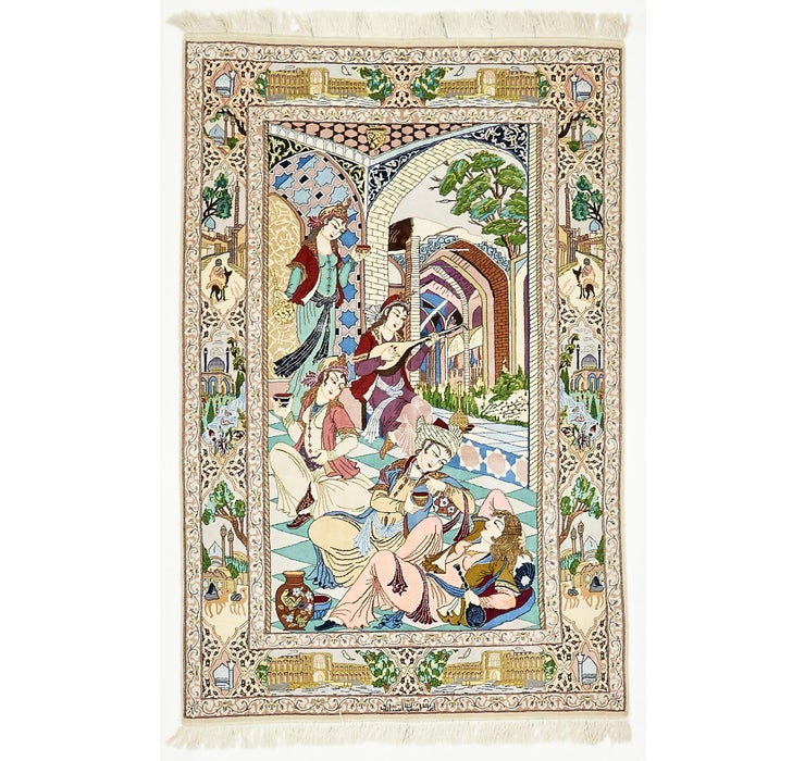 3' 10 x 5' 10 Isfahan Persian Rug