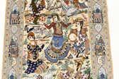 4' 1 x 6' 6 Isfahan Persian Rug thumbnail