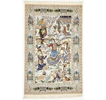 4' 1 x 6' 6 Isfahan Persian Rug main image