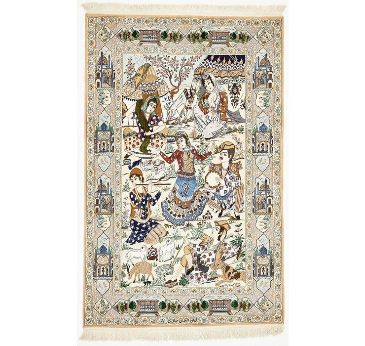 Image of 125cm x 198cm Isfahan Persian Rug