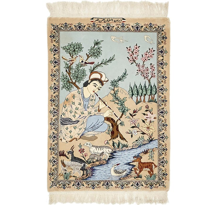 75cm x 107cm Isfahan Persian Rug