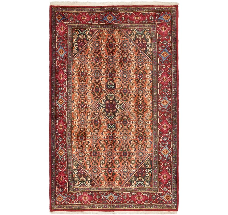 4' 3 x 7' Gholtogh Persian Rug