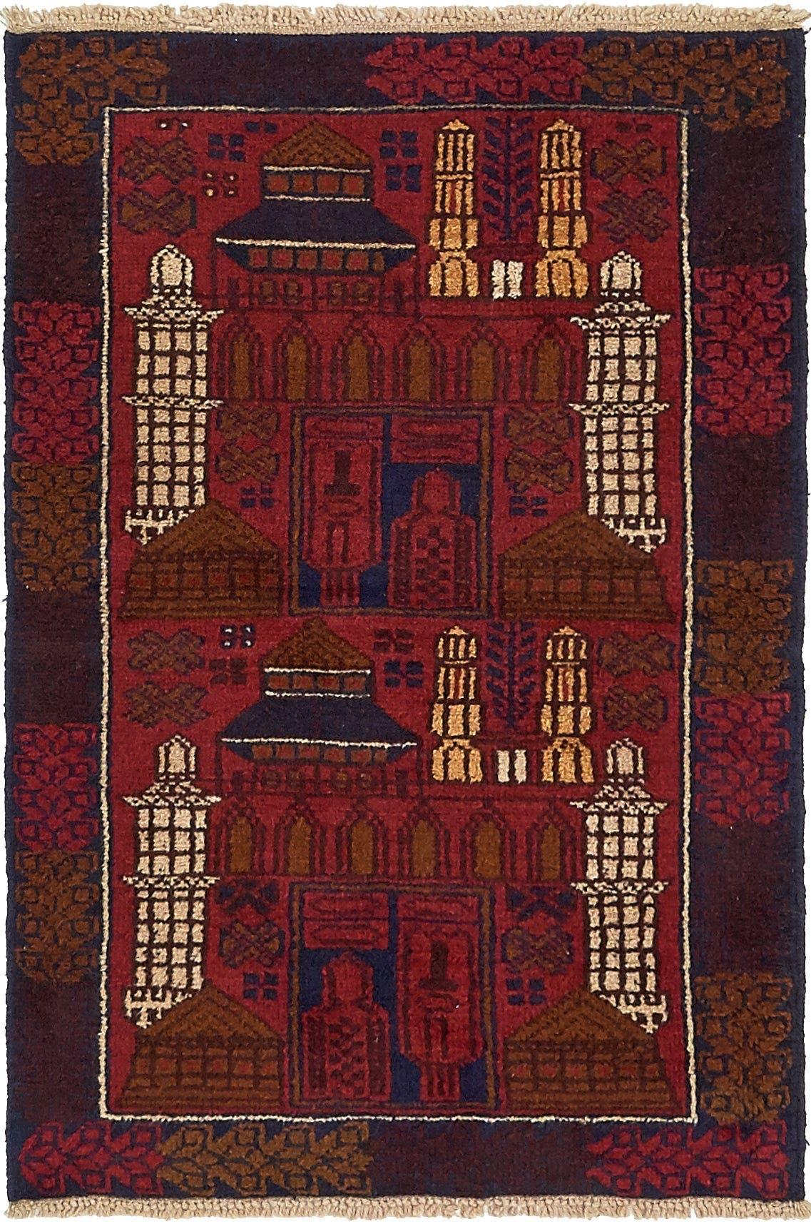 3' x 4' 5 Balouch Persian Rug main image