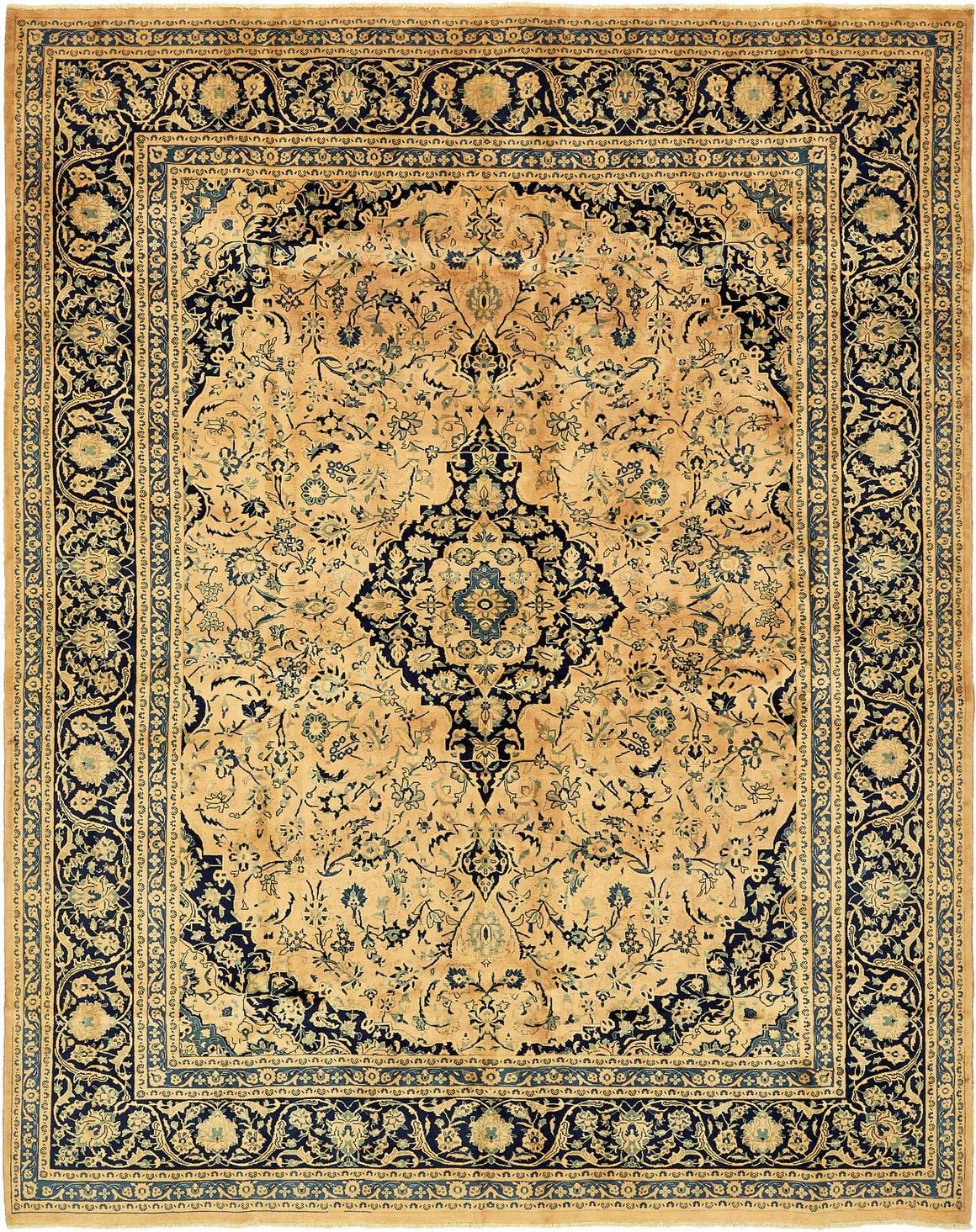 9' 10 x 12' 6 Kashan Persian Rug main image