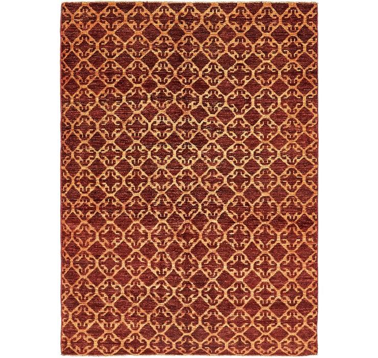 Image of 4' 8 x 6' 4 Ikat Oriental Rug