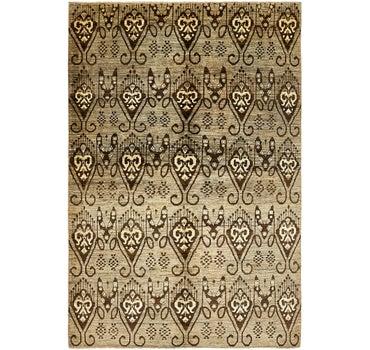 5' 6 x 8' 4 Ikat Oriental Rug main image