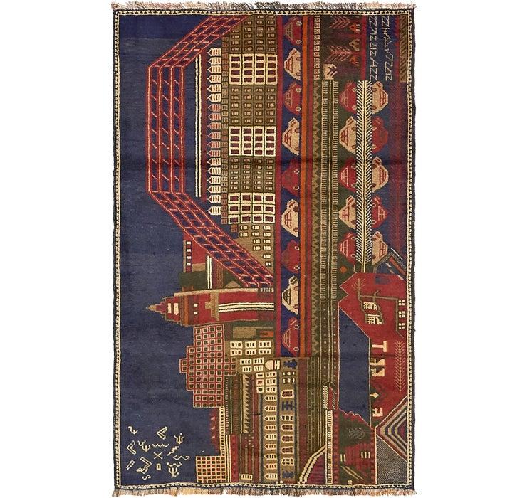 85cm x 140cm Balouch Persian Rug