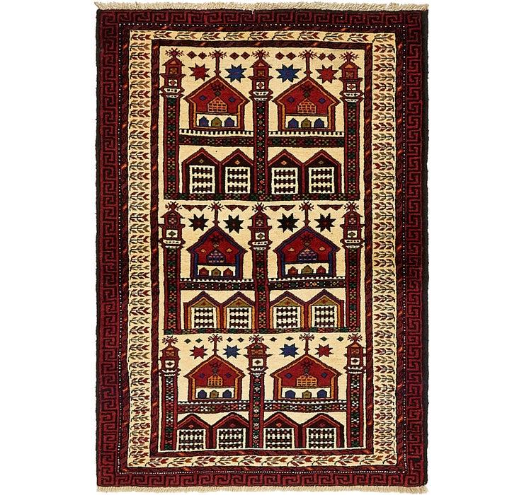 100cm x 142cm Balouch Persian Rug