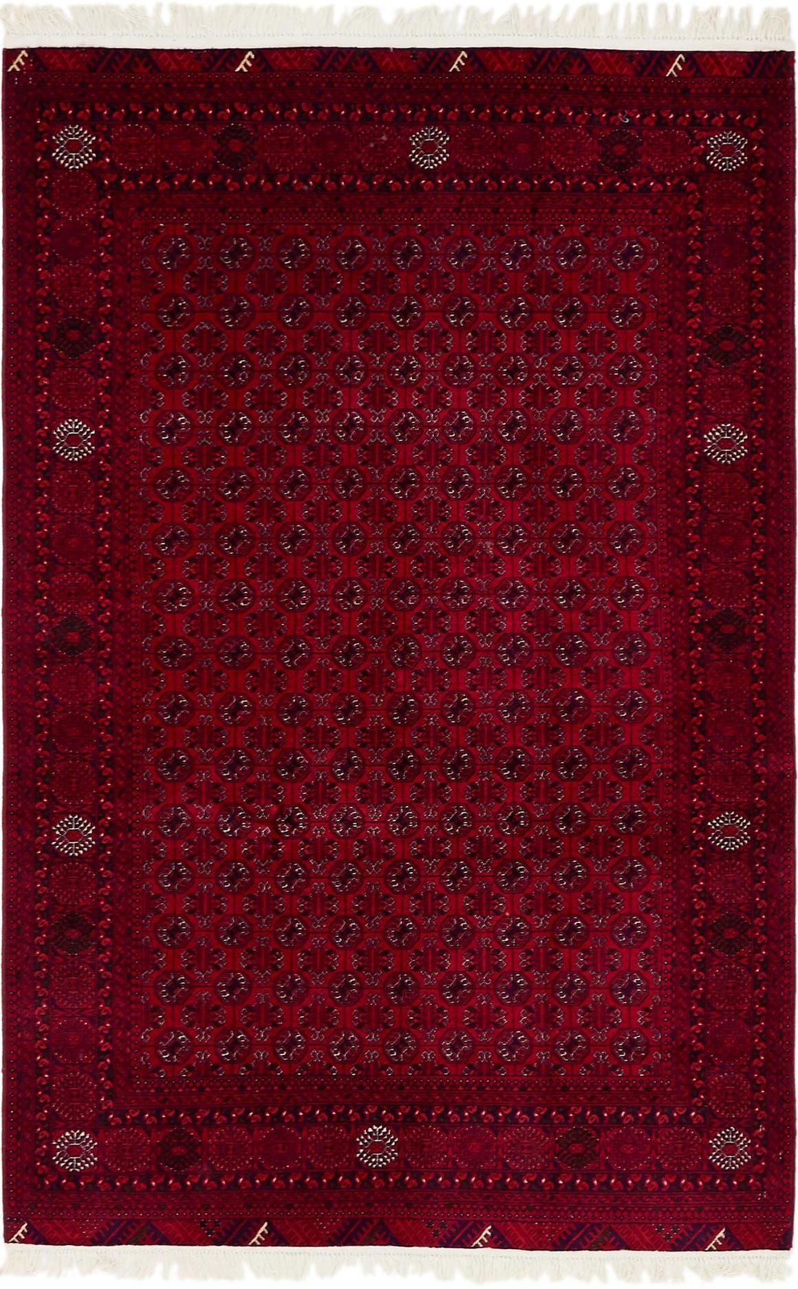 4' 2 x 6' 5 Afghan Mouri Oriental Rug main image