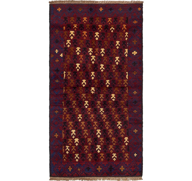 102cm x 198cm Balouch Persian Rug