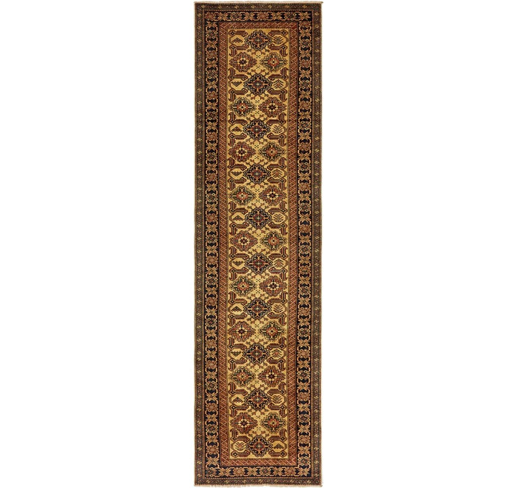 80cm x 315cm Kazak Oriental Runner Rug