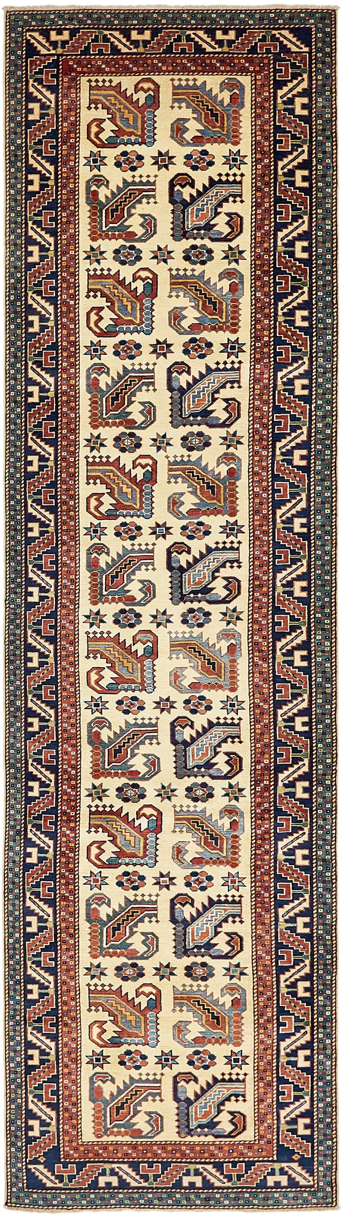 2' 9 x 10' 5 Kazak Oriental Runner Rug main image