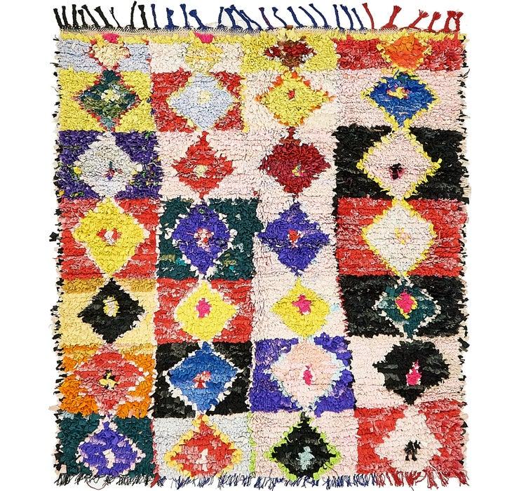 4' 6 x 5' 2 Moroccan Square Rug