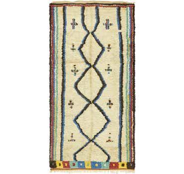 Image of 4' 6 x 9' 3 Moroccan Runner Rug