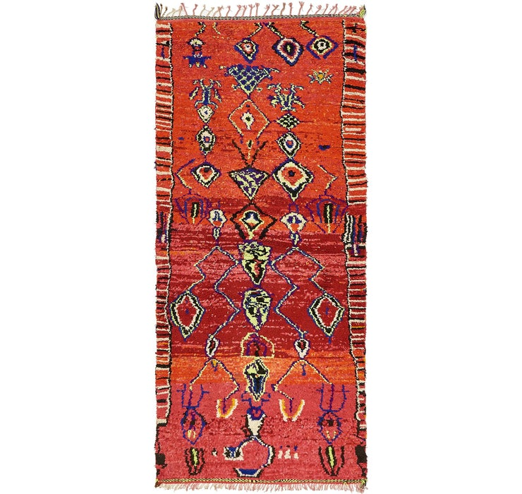 4' x 9' 9 Moroccan Runner Rug
