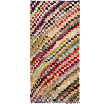 4' 3 x 9' 4 Moroccan Runner Rug main image