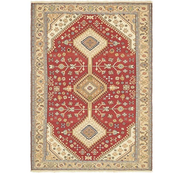 4' x 5' 8 Sirjan Persian Rug