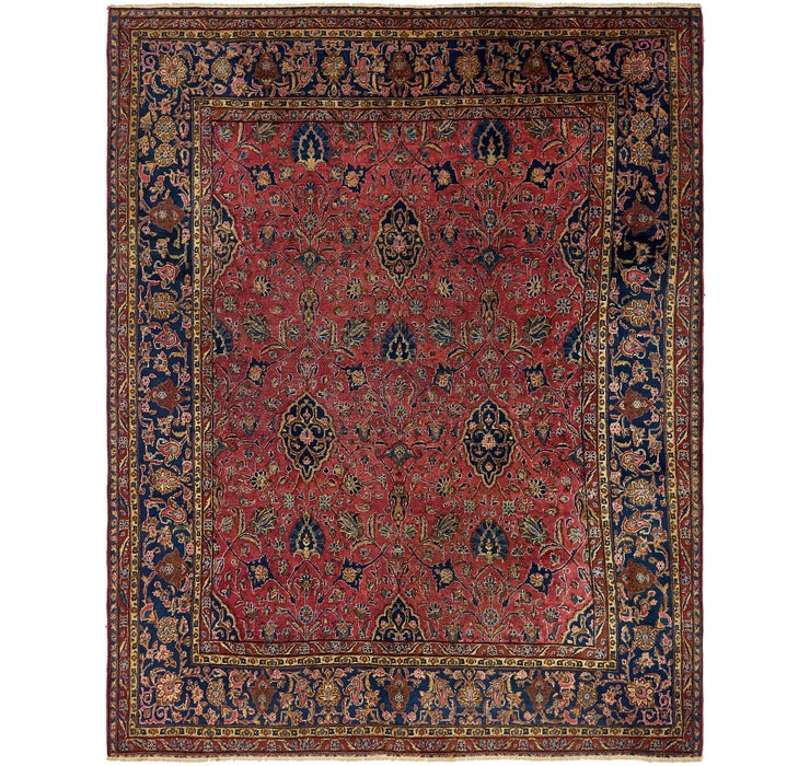 8' 9 x 11' Sarough Persian Rug