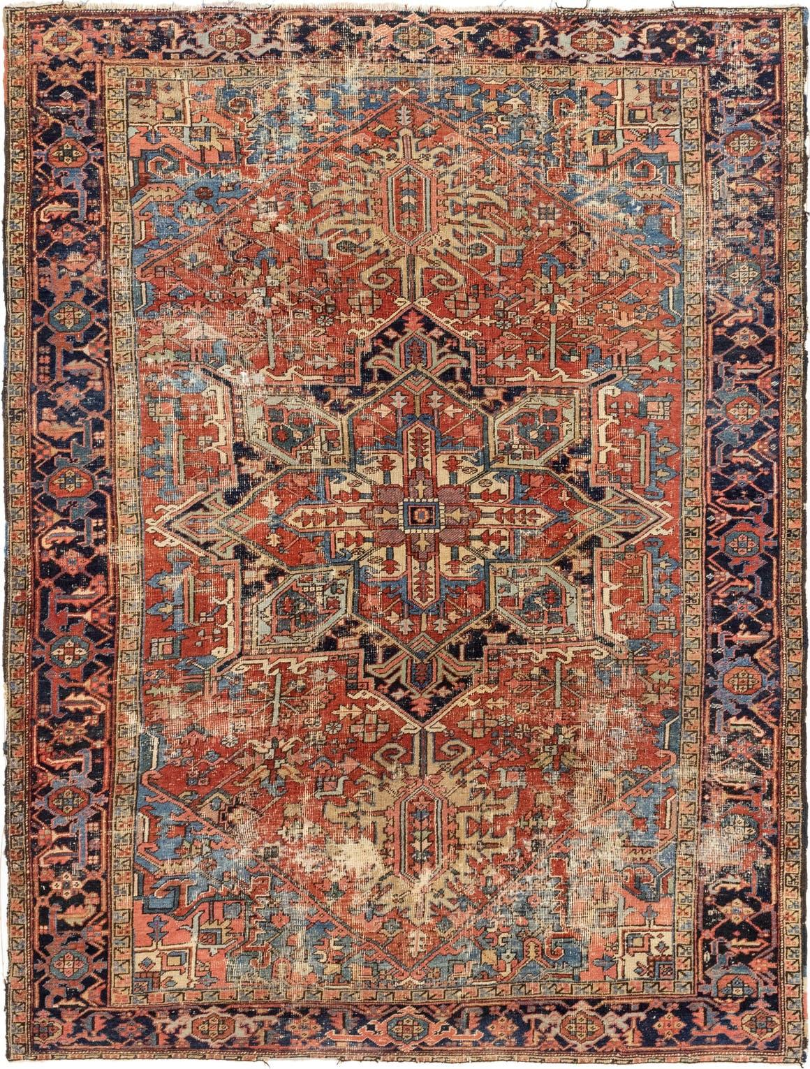 7' 6 x 10' Heriz Persian Rug main image