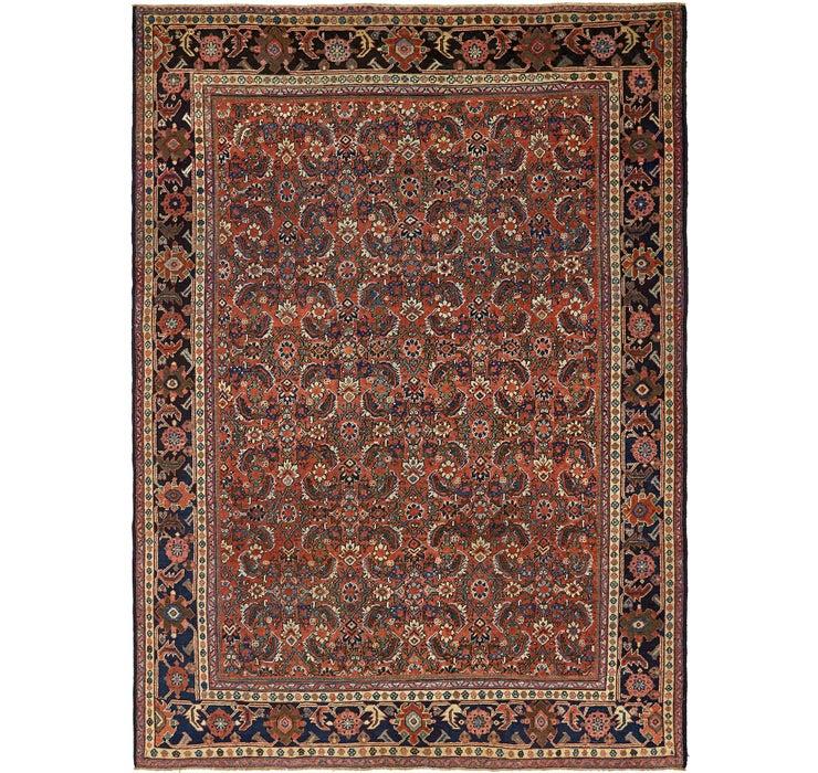270cm x 375cm Meshkabad Persian Rug