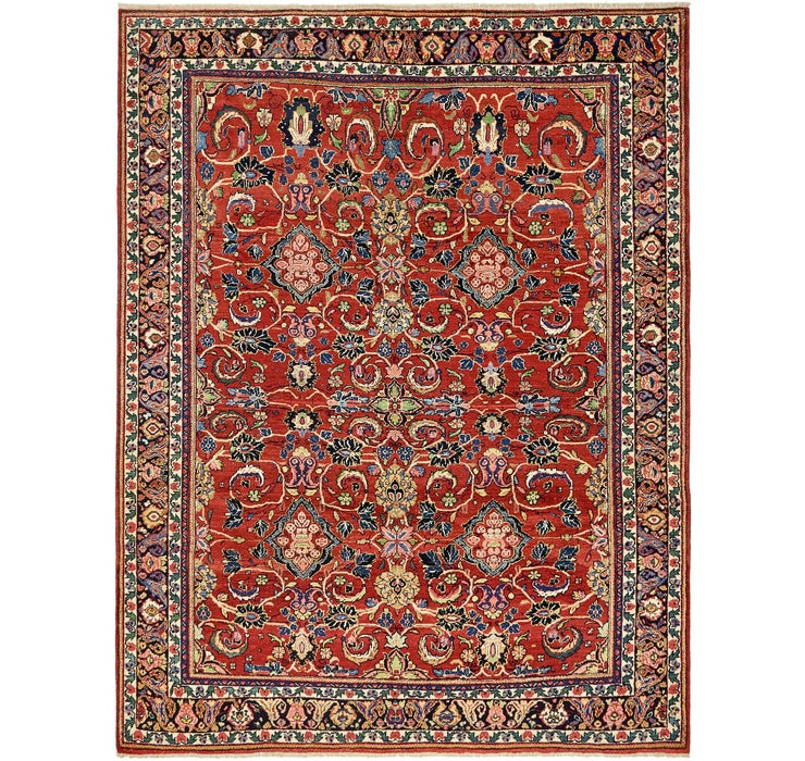 8' 10 x 11' 4 Sarough Persian Rug