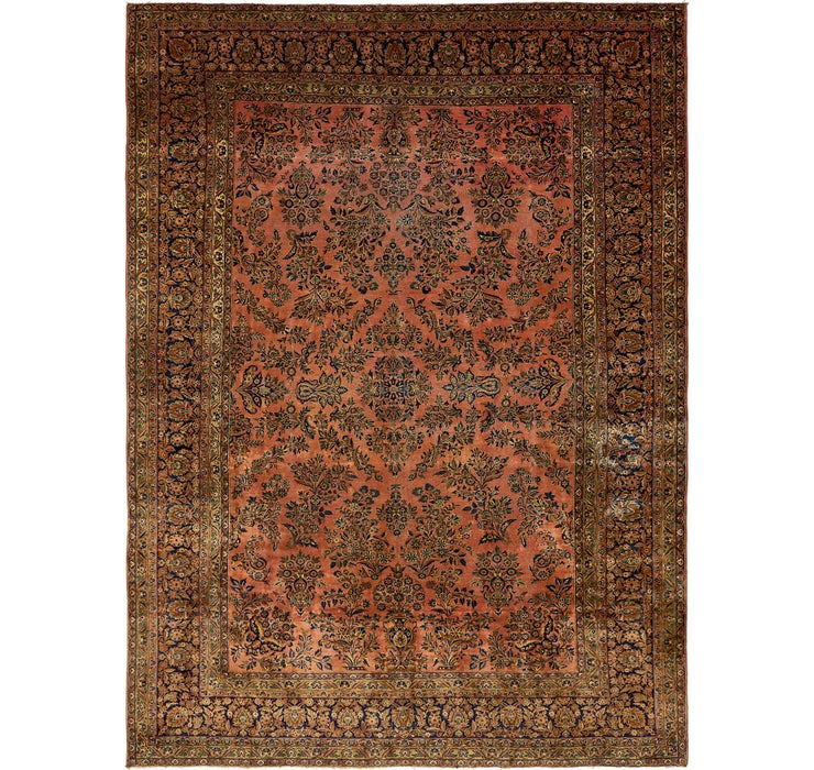 10' x 13' 10 Sarough Persian Rug