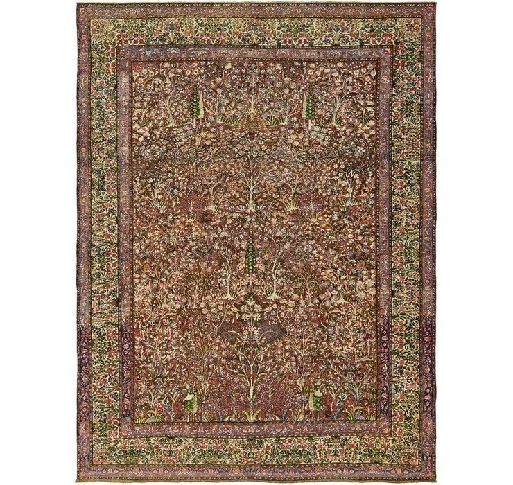 275cm x 360cm Kerman Persian Rug