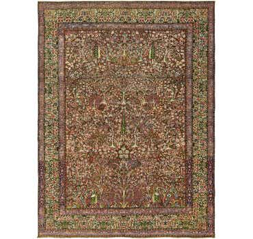 Image of 9' x 11' 10 Kerman Persian Rug