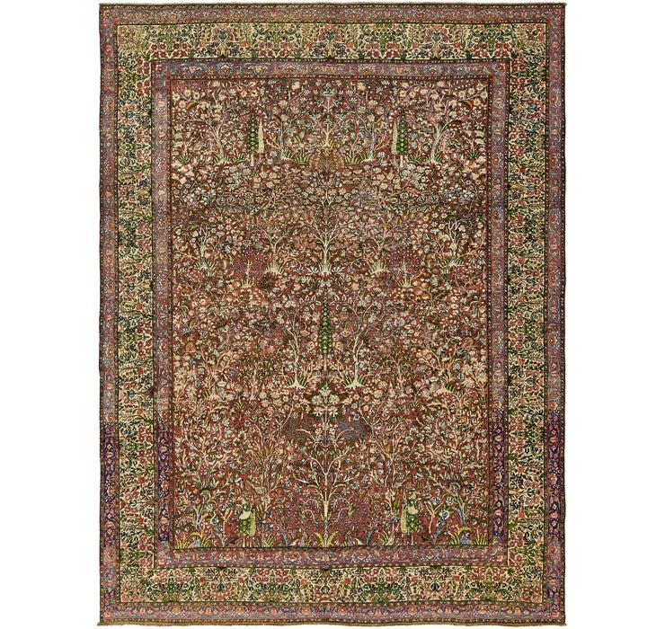 Image of 275cm x 360cm Kerman Persian Rug