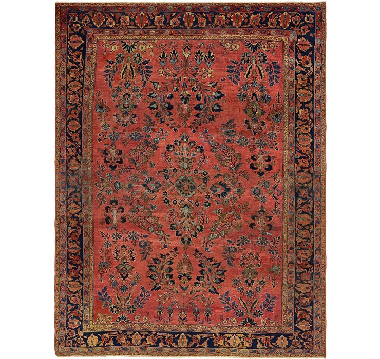 8' 10 x 11' 7 Sarough Persian Rug
