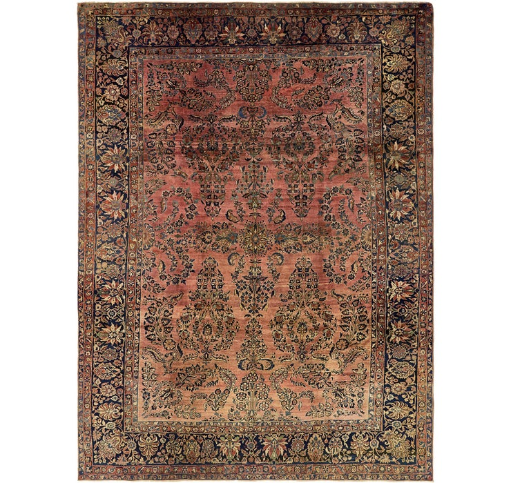 8' 8 x 11' 6 Sarough Persian Rug