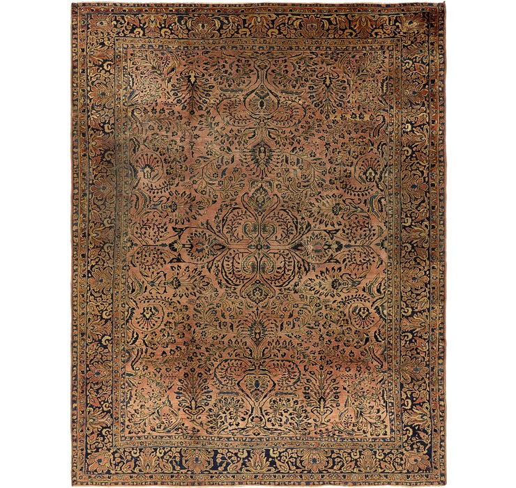 8' 2 x 10' 8 Sarough Persian Rug