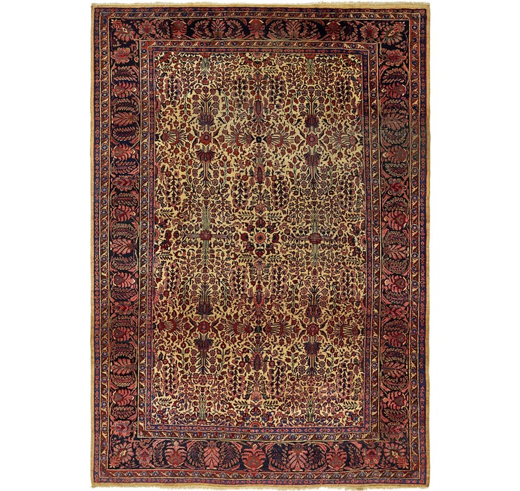 7' 5 x 10' 5 Sarough Persian Rug