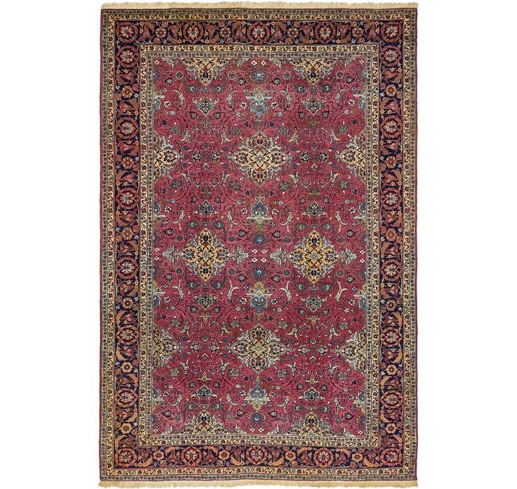 7' 7 x 11' 6 Mashad Persian Rug