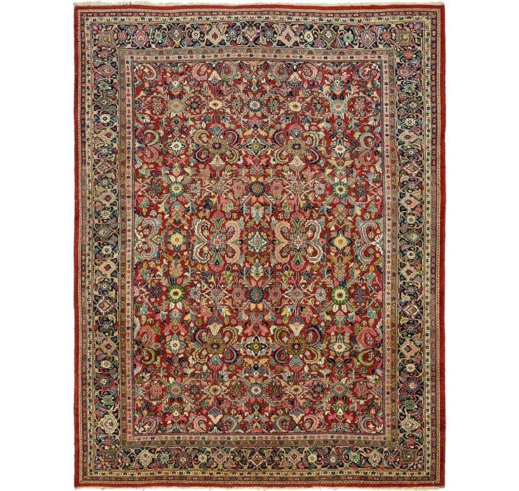 318cm x 415cm Meshkabad Persian Rug