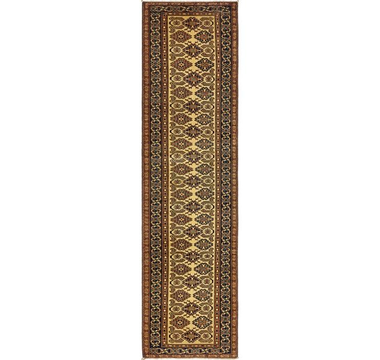 85cm x 330cm Kazak Oriental Runner Rug