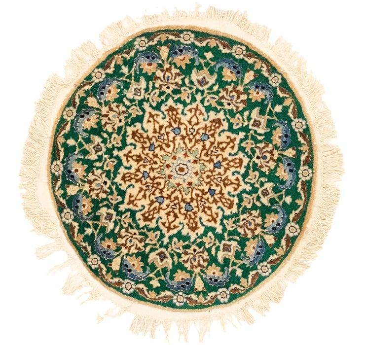 2' 2 x 2' 5 Nain Persian Round Rug