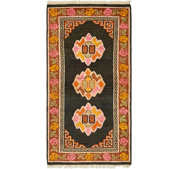 80cm x 165cm Antique Finish Rug