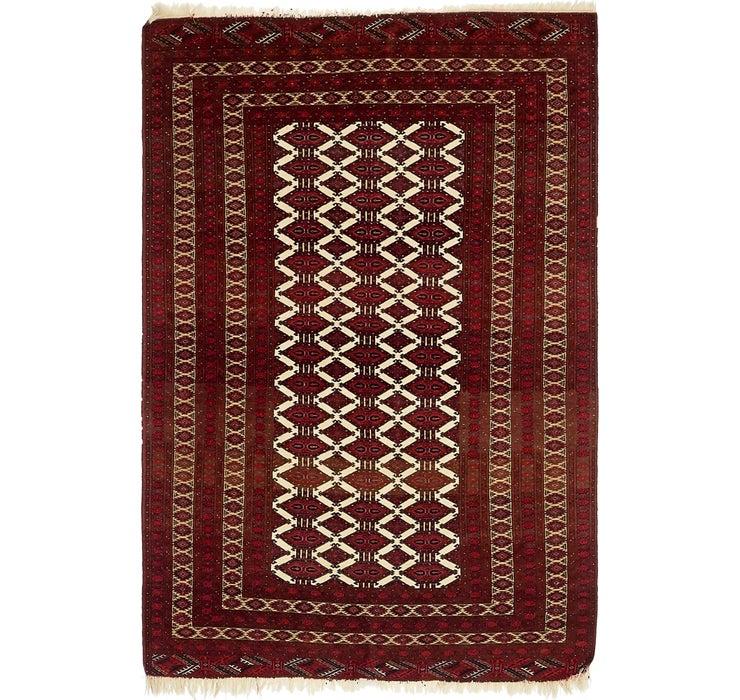 127cm x 193cm Torkaman Persian Rug