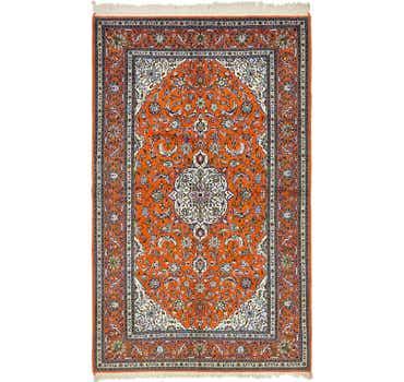 Image of 5' x 8' 7 Kashan Persian Rug