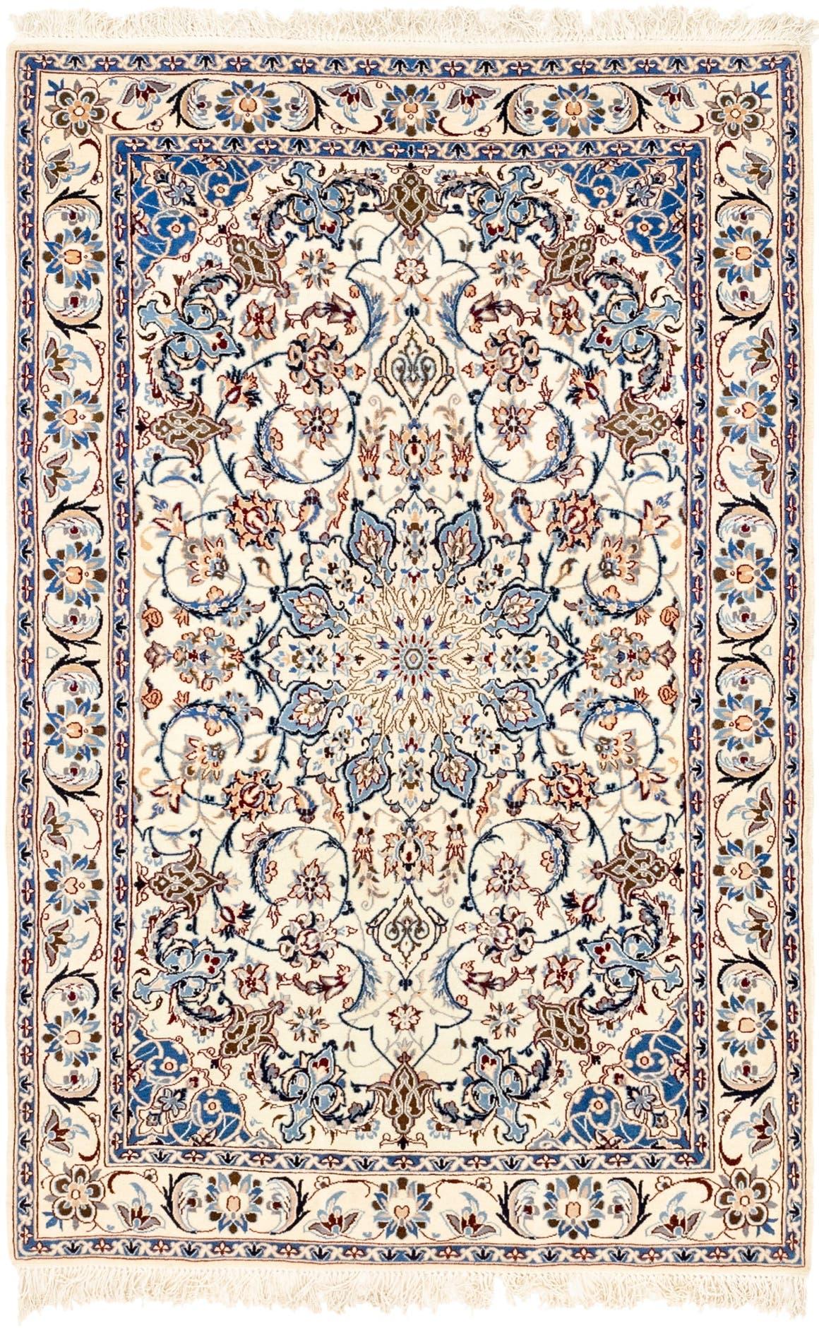 4' 4 x 7' Nain Persian Rug main image