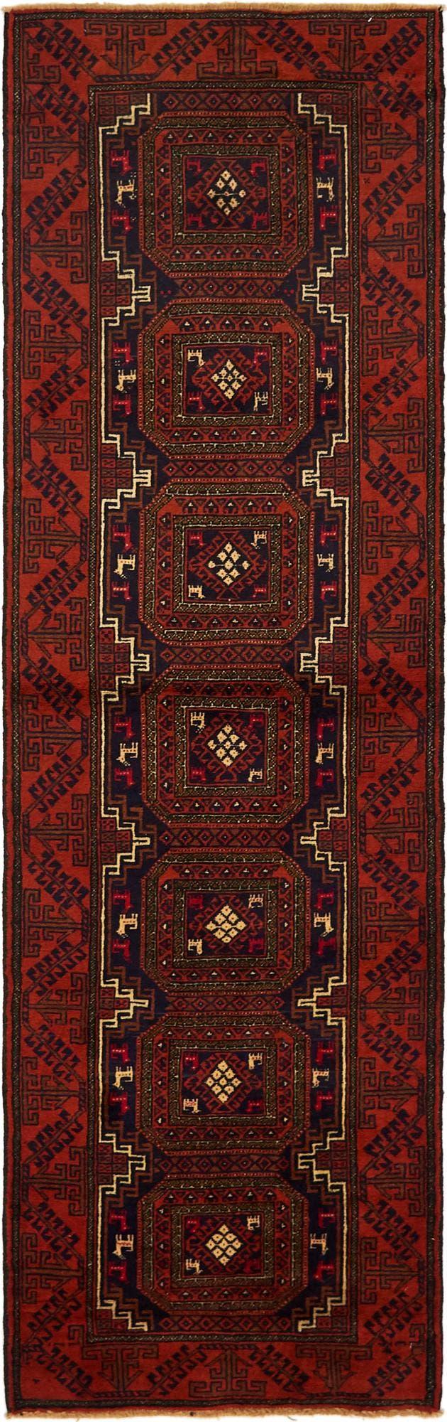 2' 8 x 9' 2 Balouch Persian Runner Rug main image
