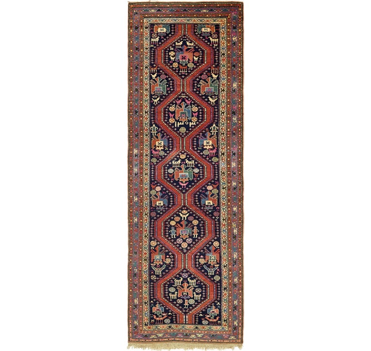 4' x 12' 5 Shiraz Persian Runner Rug