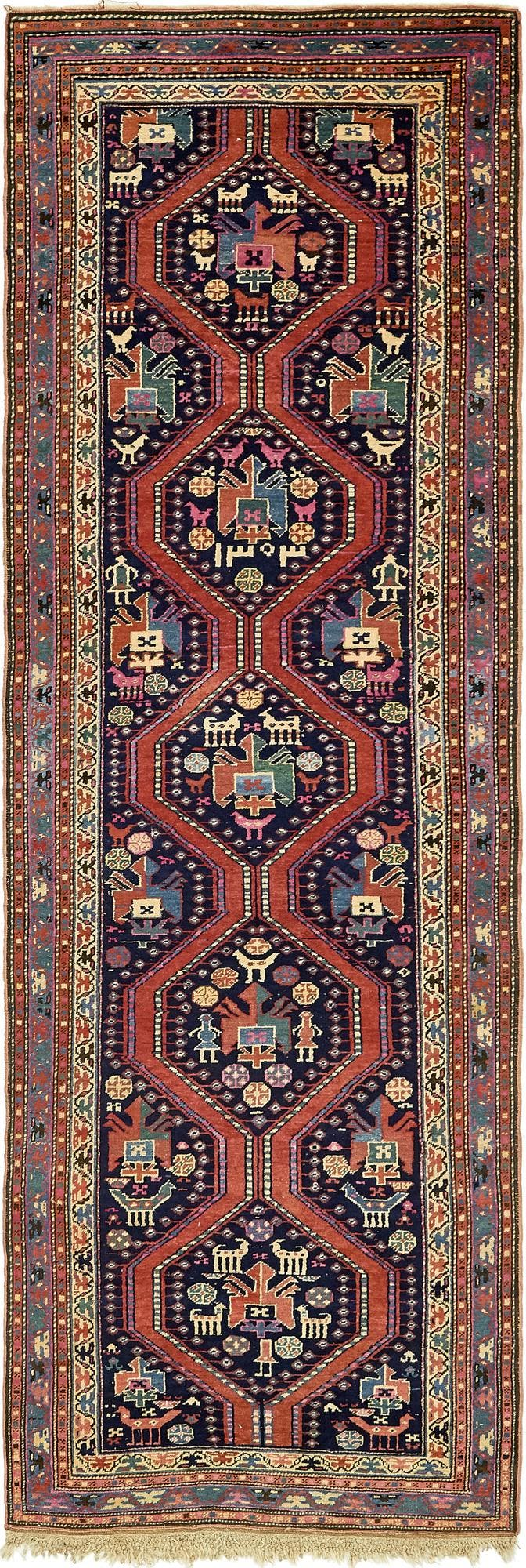 4' x 12' 5 Shiraz Persian Runner Rug main image