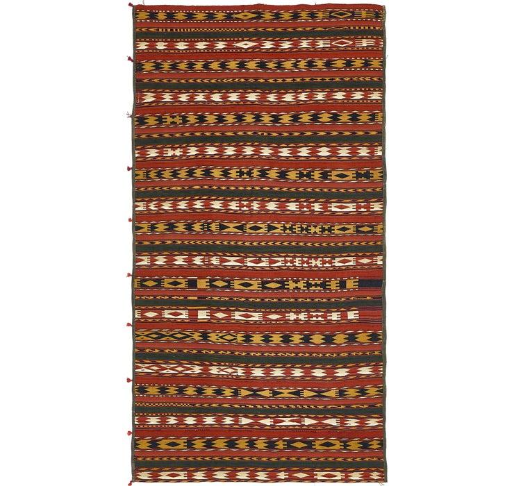 5' 3 x 10' 3 Kilim Fars Runner Rug