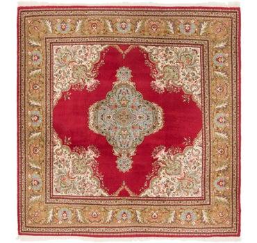 8' x 8' 6 Sarough Oriental Square Rug main image